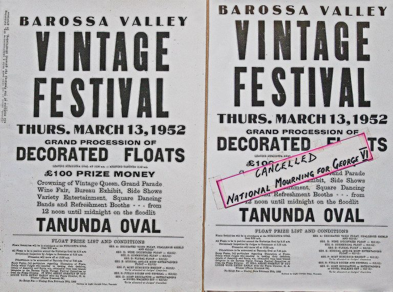 1952 Barossa Vintage Festival poster