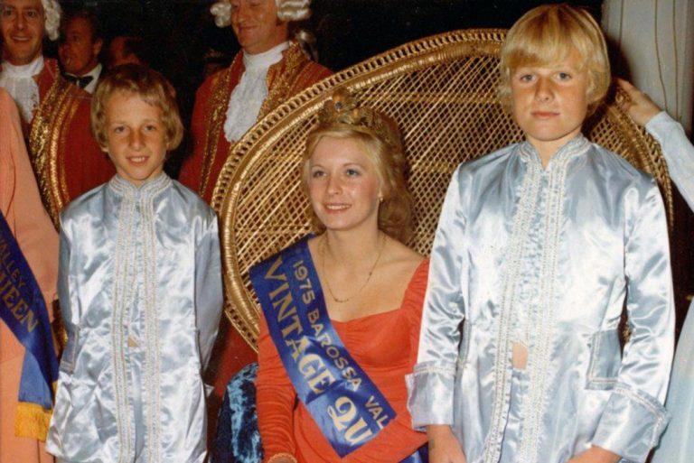 1975 Vintage Queen Julie Hage with attendants